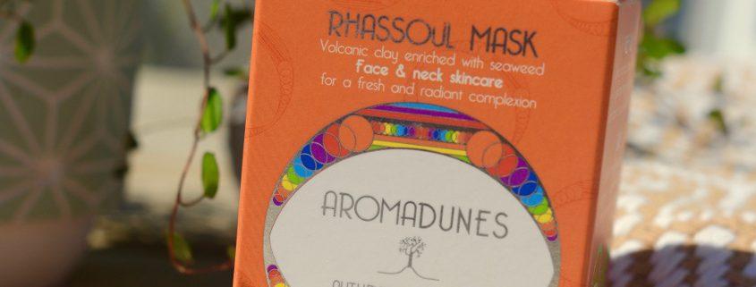 Masque de Rhassoul Aromadunes. Photo : Kévin Lameta