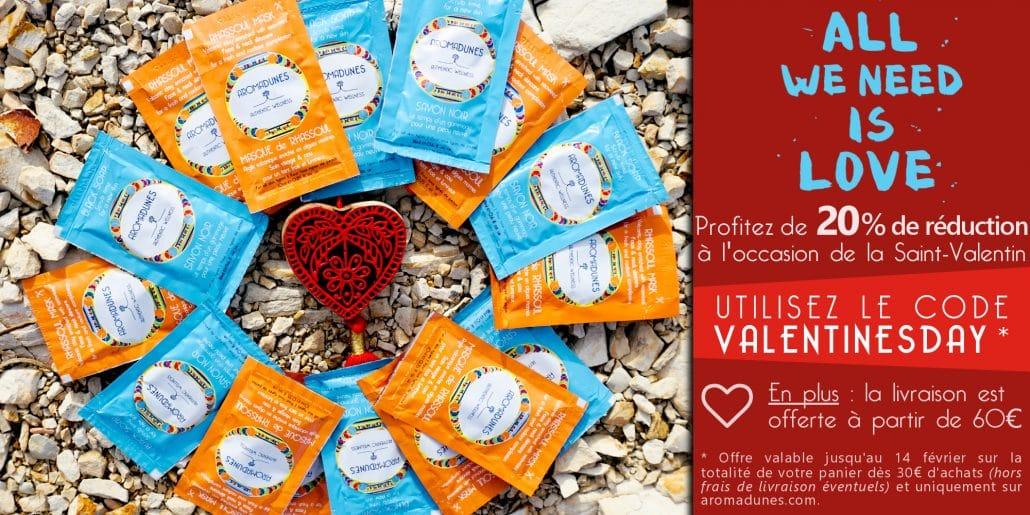 Offre spéciale Saint-Valentin sur les créations Aromadunes
