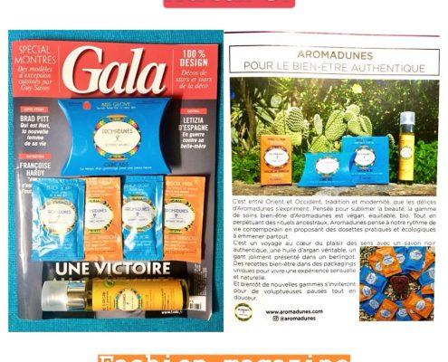 Aromadunes en page centrale de Gala